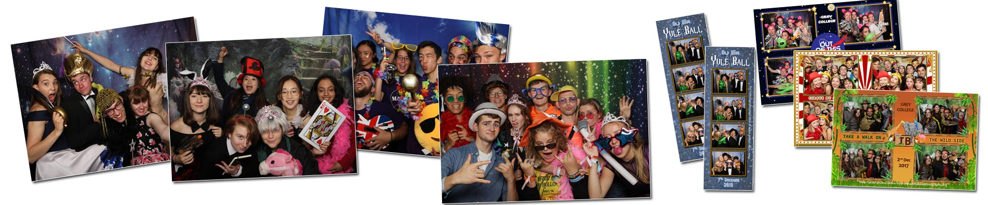 Standard Photobooth example photos and printouts